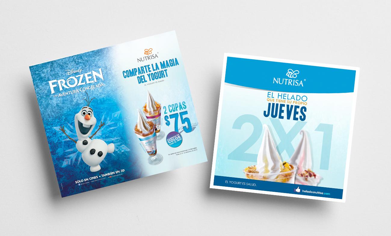 Campaña Publicitaria con licencia de marca Nutrisa - Frozen (Disney) 1