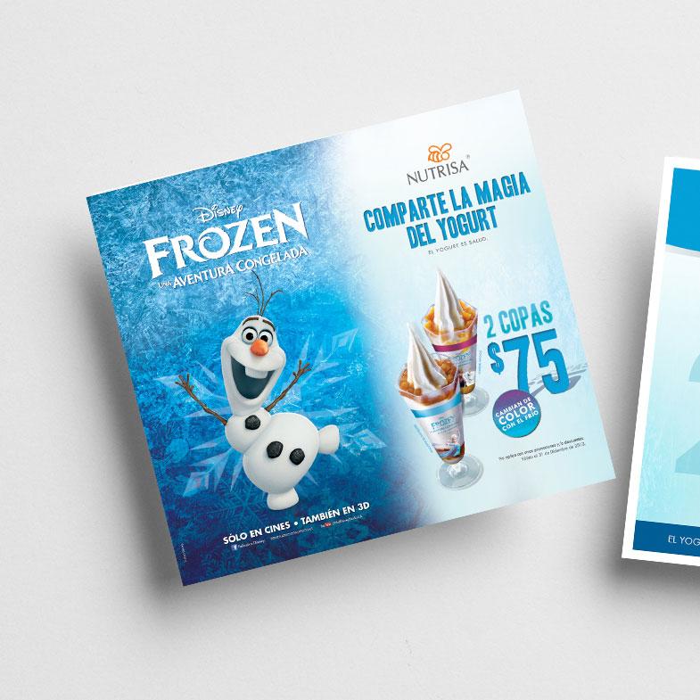 Campaña Publicitaria con licencia de marca Nutrisa - Frozen (Disney)